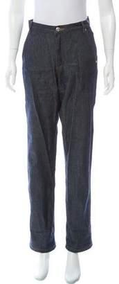 Vanessa Seward Mid-Rise Straight-Leg Jeans