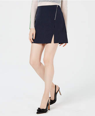 Project 28 Nyc Pinstriped Mini Skirt
