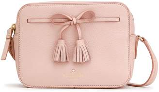 Kate Spade Hayes Street Bow-detailed Pebbled-leather Shoulder Bag