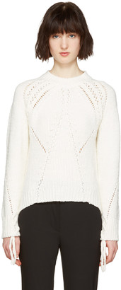 3.1 Phillip Lim White Pointelle Sweater $450 thestylecure.com