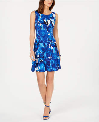 Connected Printed Fit & Flare Dress