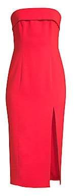 Jay Godfrey Women's Kerr Strapless Front-Slit Dress