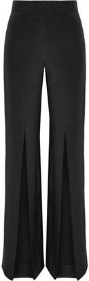 Cushnie et Ochs - Split-front Silk-crepe Wide-leg Pants - Black $995 thestylecure.com