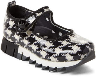 Dolce & Gabbana Toddler/Kids Girls) Houndstooth Patent Mary Jane Shoes