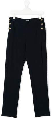 Chloé Kids TEEN button embellished trousers