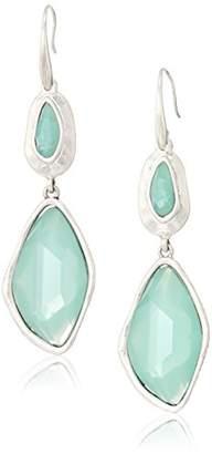 The Sak Women's Large Stone Double Drop Earrings