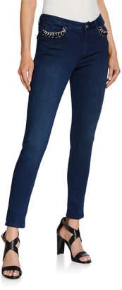 MICHAEL Michael Kors Izzty Chain-Pocket Skinny Jeans