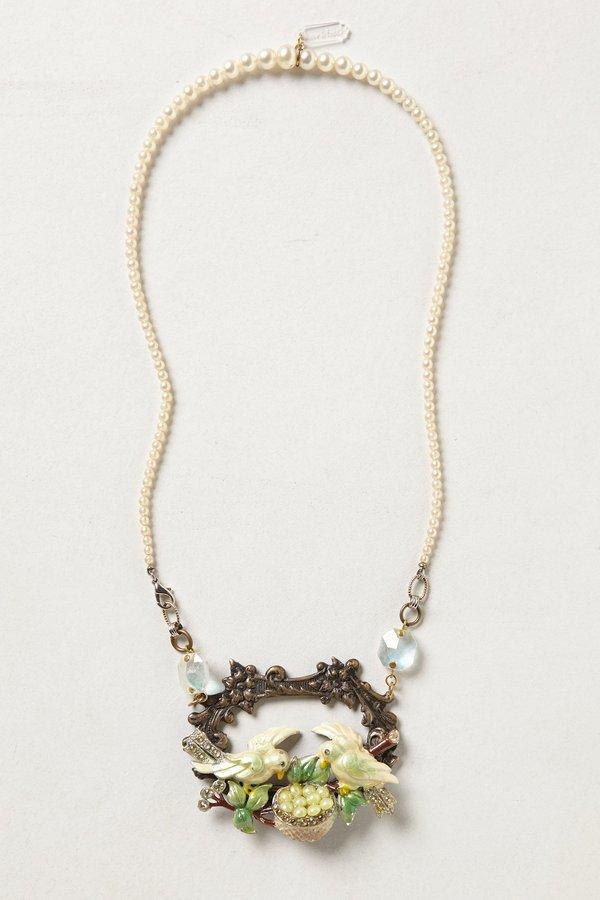 Anthropologie Garden Pendant Necklace