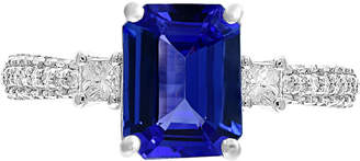 Effy Gemstone Bridal by Tanzanite (2-1/10 ct. t.w.) & Diamond (3/8 ct. t.w.) Ring in 18k white Gold