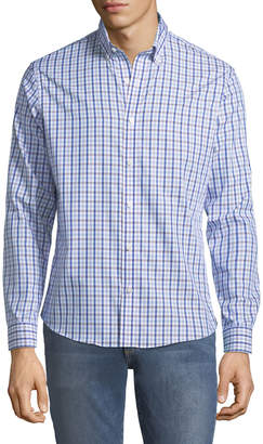 Neiman Marcus Slim-Fit Wear-It-Out Checkered Sport Shirt