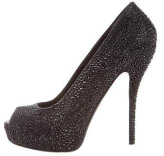 8ef11965d13 Crystal-embellished Platform Pumps - ShopStyle