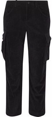 Alice + Olivia Johnsie Cropped Corduroy Straight-Leg Pants