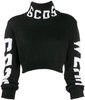 GCDS logo roll-neck sweater