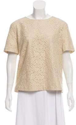 Belstaff Short Sleeve Lace Top