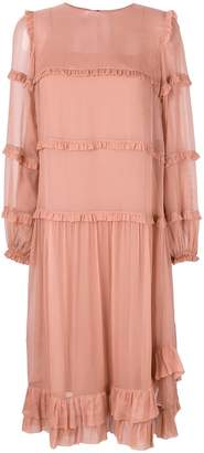 No.21 ruffled midi dress