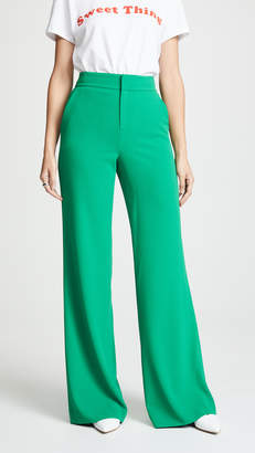 Alice + Olivia Dylan High Waisted Clean Fit Pants
