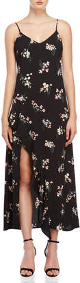 Lush Floral Slit Leg Maxi Dress