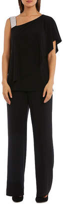 R & M Richards One Shoulder Embellished Pant Suit