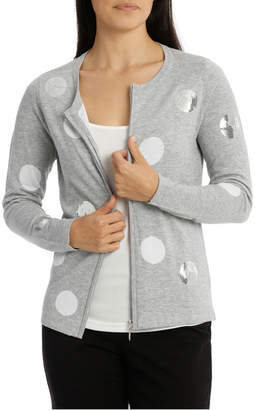 Scattered Sequin Spot Cardigan