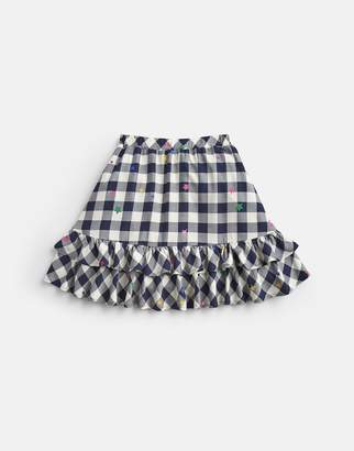 Joules Clothing Margot Woven Frill Skirt 32yr