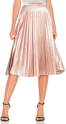 Bardot Velour Pleat Skirt