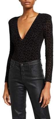 Astr Inca Leopard-Print Bodysuit