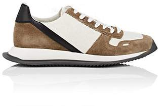 Rick Owens Men's Mixed-Material Sneakers - Green