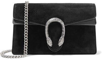 Gucci - Dionysus Super Mini Suede Shoulder Bag - Black