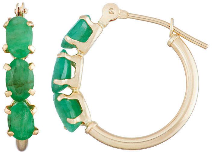 c67256093080 Emerald Hoop Earrings - www.peepgo.com - So Beautiful Take A Look