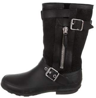 Burberry Suede & Rubber Mid-Calf Boots