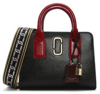 Marc Jacobs Little Big Shot Black Leather Two Tone Tote Bag