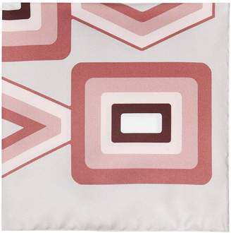 Reiss Deco - Silk Pocket Square in Pink
