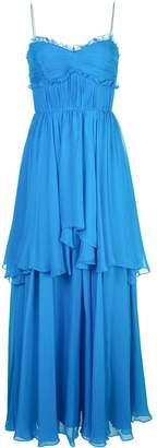 AMUR ruffle tiered maxi dress