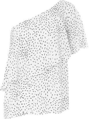Dorothy Perkins Womens **Vila White One Shoulder Top