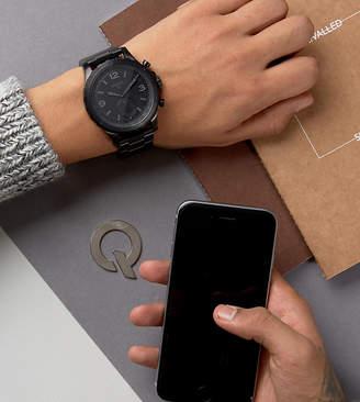 Fossil Q FTW1115 Nate Bracelet Hybrid Smart Watch In Black