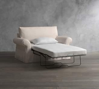 Pottery Barn Pearce Slipcovered Twin Sleeper Sofa with Robin Mattress