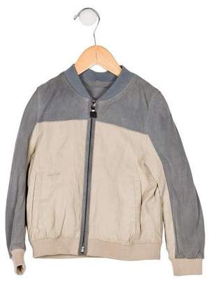 Christian Dior Boys' Suede Zip-Up Bomber