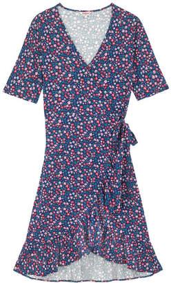 Cath Kidston Dulwich Ditsy Jersey Frill Wrap Dress