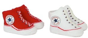 Converse Set of 2 Red & White Branded Socks