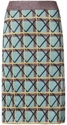 ALEXACHUNG Alexa Chung geometric pattern pencil skirt