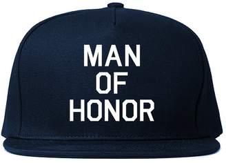 Kings Of NY Man of Honor Funny Bachelor Party Wedding Mens Snapback Hat Navy