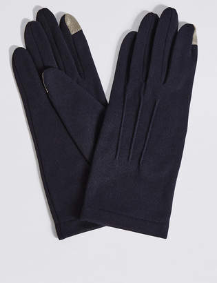 M&S Collection Touch Screen Jersey Gloves
