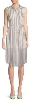 Moon River Frayed Striped Dress
