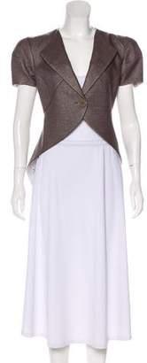 Emporio Armani Short Sleeve Woven Blazer