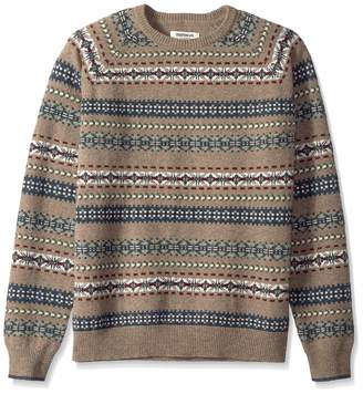 Goodthreads Men's Lambswool Fairisle Crewneck jumper Sweatshirt