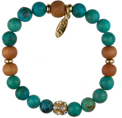 Ettika Turquoise and Sandalwood Bracelet