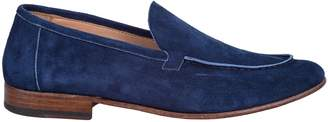 Seboys blue suede moccasin and leather sole