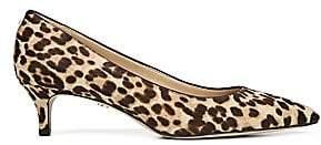 Sam Edelman Women's Dori Leopard Calf Hair Point Toe Pumps