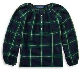 Ralph Lauren Childrenswear Baby Girl's Tartan Plaid Cotton Top
