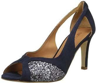 Emma.Go Emma Go Women's Lulu Ankle Strap Sandals, Bleu (Suede Navy and Glitter Smoke)